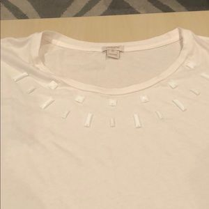 J. Crew Tops - J. Crew cream t-shirt
